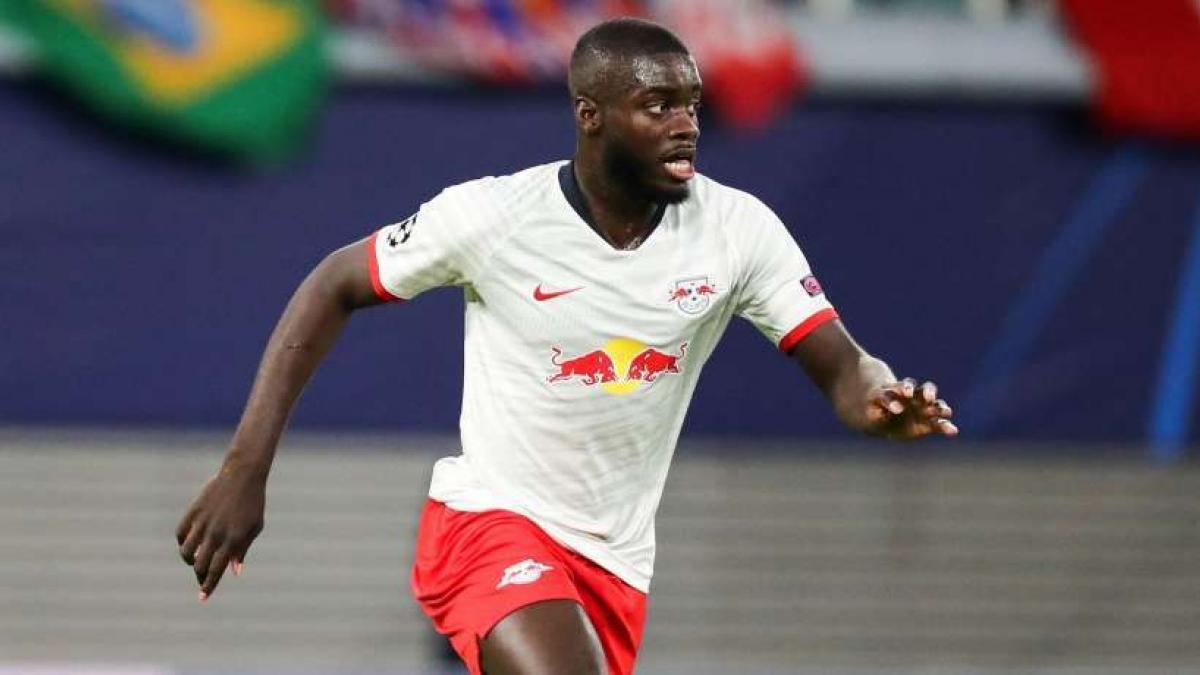 Dayot Upamecano im Einsatz für RB Leipzig