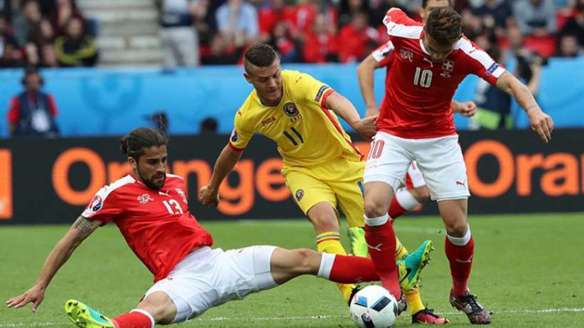Hart umkämpft: Rumänien gegen die Schweiz