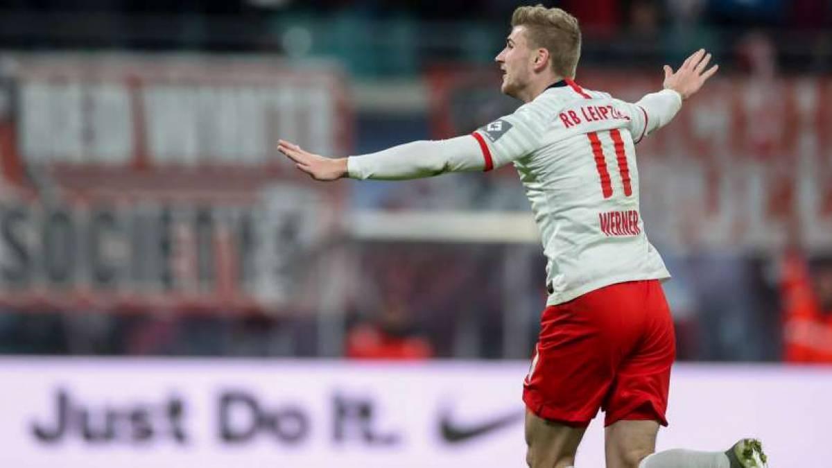 Timo Werner hielt RB Leipzig am Samstag mit zwei Toren auf Titelkurs
