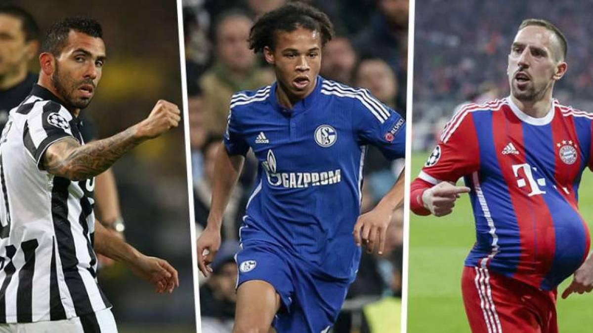 Tévez, Sané und Ribéry glänzten in der Königsklasse