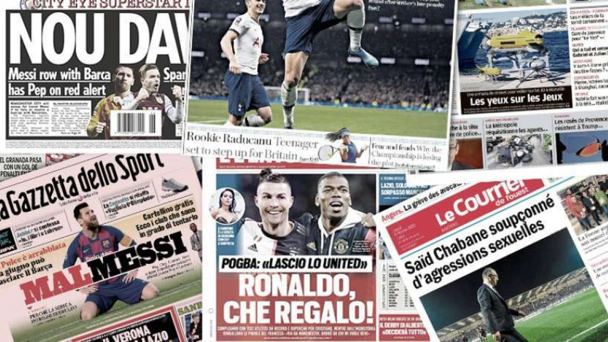 City angeblich heiß auf Messi   Pogba kündigt Abgang an