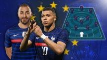 Favorit auf den Titel: Frankreichs Starensemble um Rückkehrer Benzema