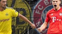 BVB - Bayern: Die Aufstellungen