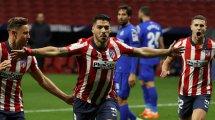 Atlético: Suárez fällt aus