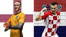 England - Kroatien: Sancho nicht dabei, Kramaric beginnt