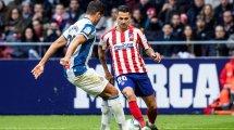 Atlético siegt kurz vor Schluss