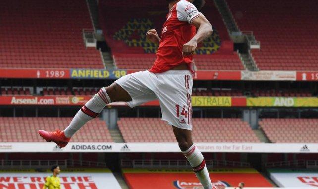 Pierre-Emerick Aubameyang bejubelt ein Tor für die Gunners