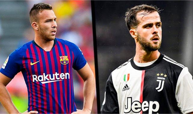 Arthur (l.) kommt im Tausch gegen Miralem Pjanic zu Juventus Turin