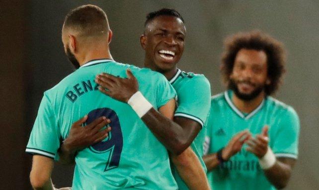 Karim Benzema in trauter Zweisamkeit Vinícius