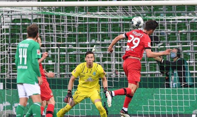 Kai Havertz erzielte gegen Bremen einen Kopfball-Doppelpack