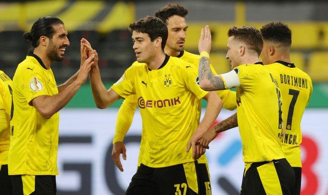 Borussia Dortmund beim Torjubel