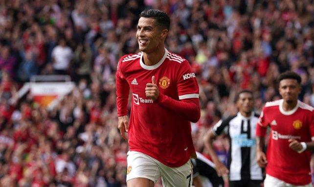 Cristiano Ronaldo dreht ab zum Jubeln
