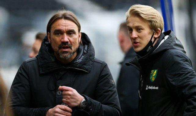 Daniel Farke (l.) steht bereits seit 2017 in Norwich an der Seitenlinie