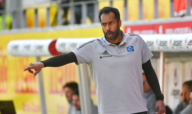Daniel Thioune beim Coachen