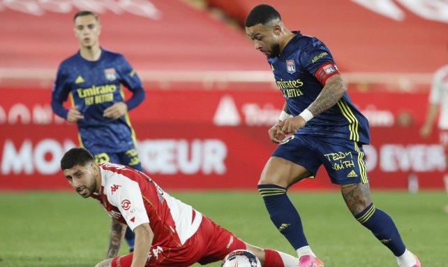 Memphis Depay im Spiel gegen die AS Monaco