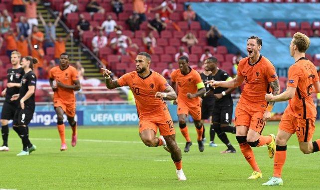 Memphis Depay nach seinem Treffer für die Niederlande