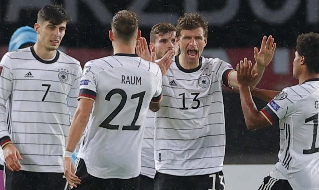 Das DFB-Team beim Torjubel