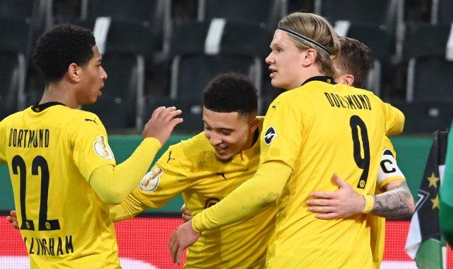 Sancho bejubelt seinen Treffer im Pokal