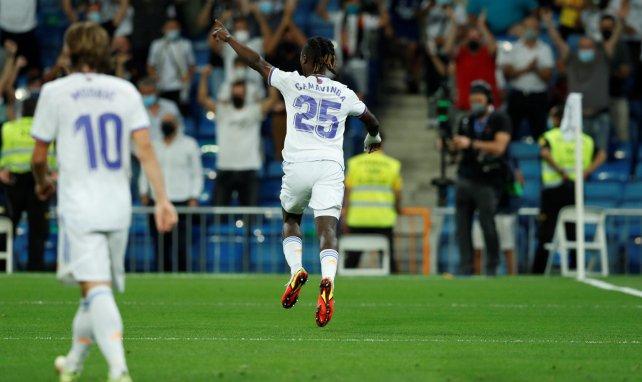Eduardo Camavinga freut sich über seinen Treffer