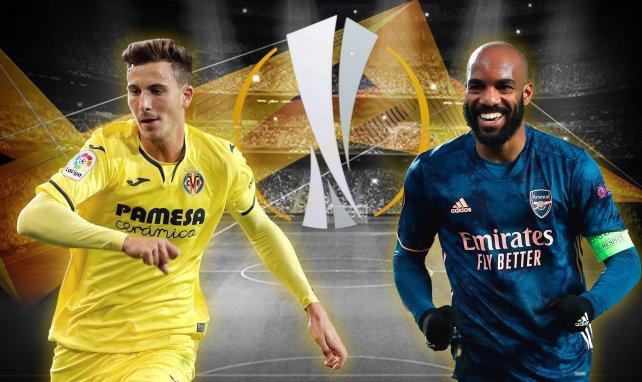 Pau Torres und Alexandre Lacazette präsentieren sich in der Europa League