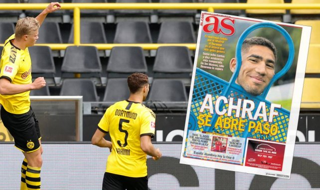 Erling Haaland (l.) und Achraf Hakimi sorgen für eine Menge Tore beim BVB
