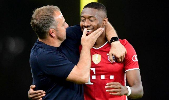 Hansi Flick mit David Alaba nach dem Sieg im DFB-Pokal