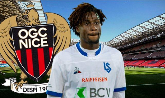 Evann Guessand spielte leihweise für den FC Lausanne Sport
