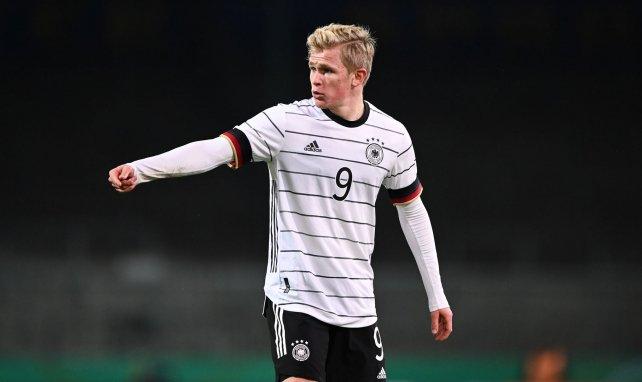 Jonathan Burkardt im Trikot der deutschen U21-Nationalmannschaft