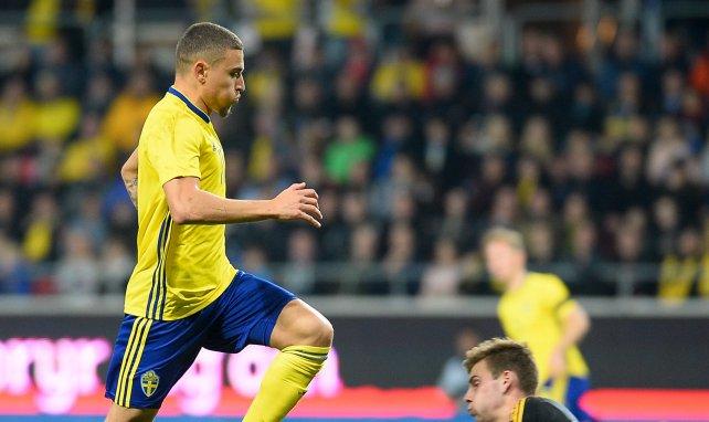 Jordan Larsson im Trikot der schwedischen Nationalmannschaft
