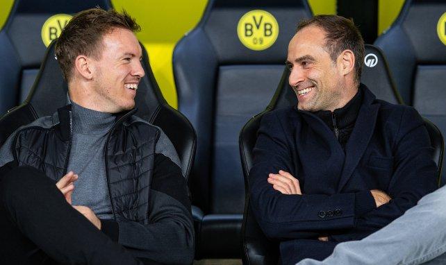 Julian Nagelsmann (l.) mit seinem Boss Oliver Mintzlaff