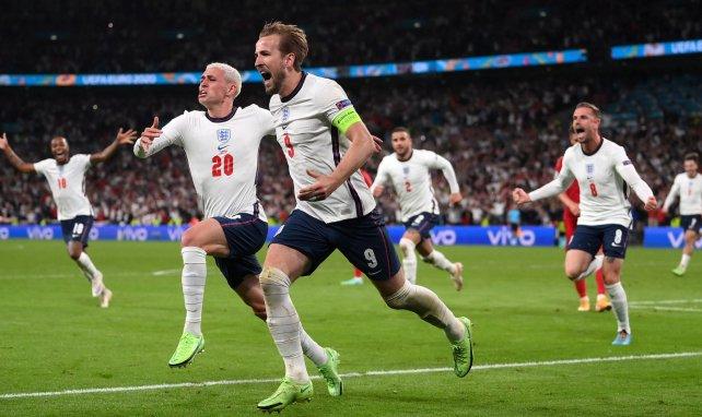 Harry Kane nach einem Tor bei der Euro