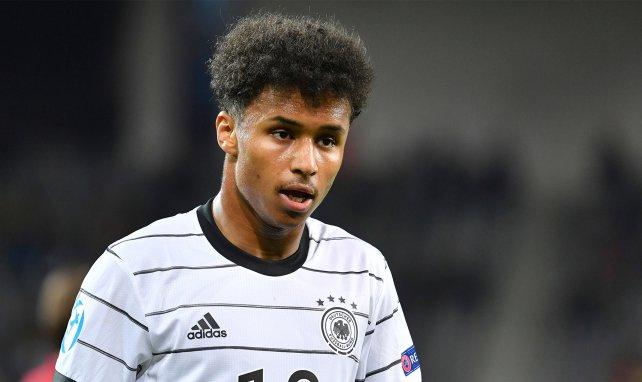 Karim Adeyemi im Einsatz für die deutsche U21-Nationalmannschaft