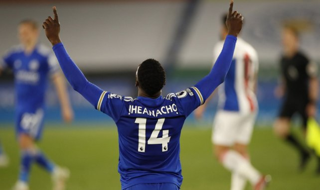 Kelechi Iheanacho bejubelt einen Sieg der Foxes