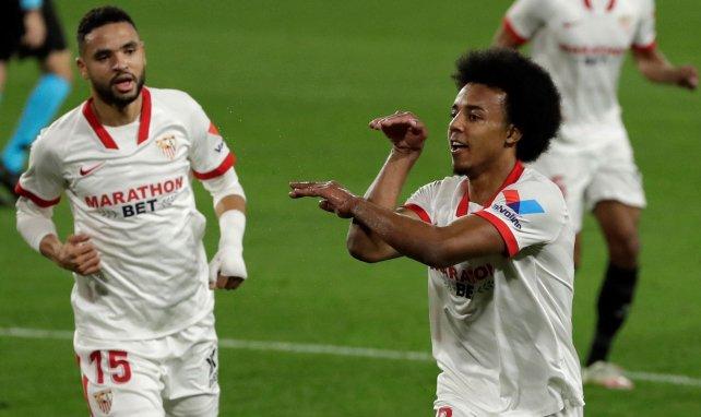 Jules Koundé bejubelt sein Tor gegen Barça