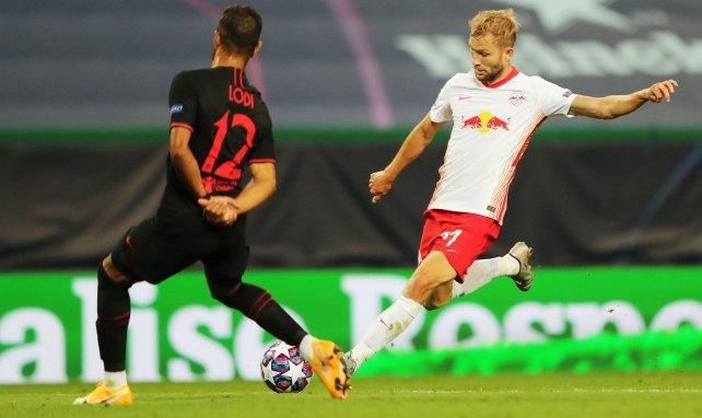Konrad Laimer im Einsatz gegen Atlético Madrid