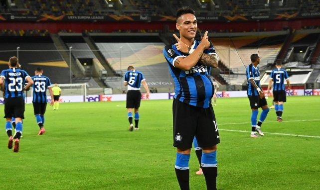Lautaro Martínez jubelt in der Europa League