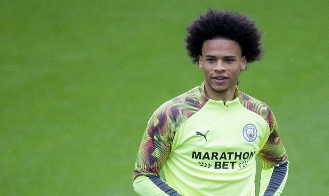 Leroy Sané im Training bei Manchester City