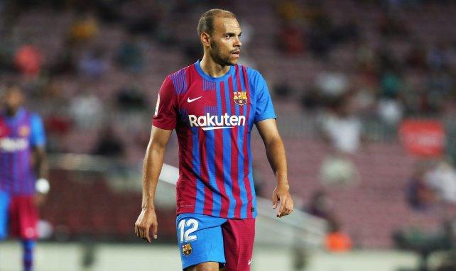 Martin Braithwaite sous le maillot du FC Barcelone lors de la saison 2021/2022
