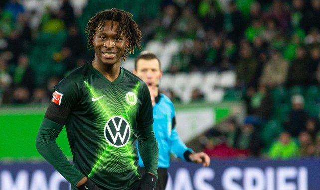 Mamoudou Karamoko im Trikot des VfL Wolfsburg