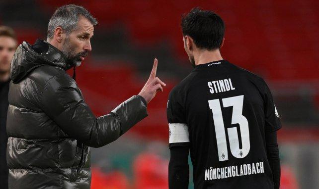 Marco Rose mit Kapitän Lars Stindl