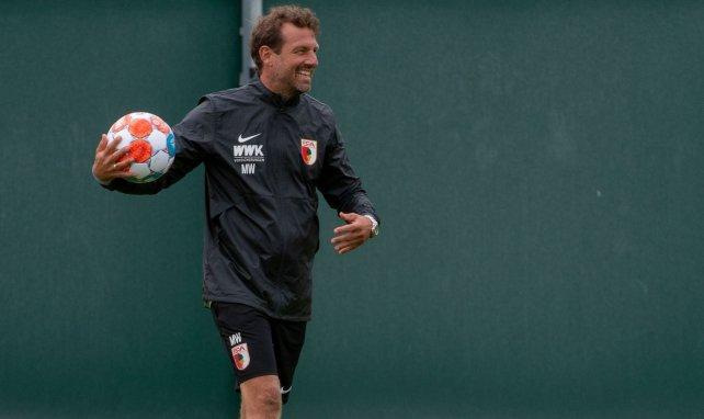 Markus Weinzierl hat Spaß beim Training