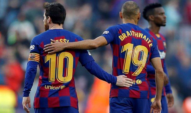 Lionel Messi und Martin Braithwaite