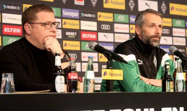 Gladbach-Manager Max Eberl (l.) und Trainer Marco Rose