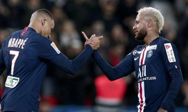 Kylian Mbappé (l.) und Neymar