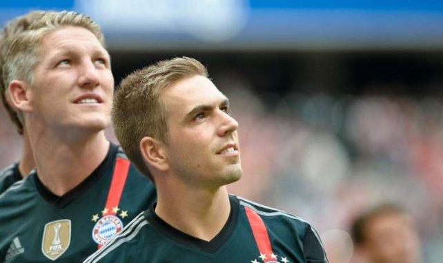 Bei der Hertha gehandelt: Schweinsteiger (l.) und Lahm
