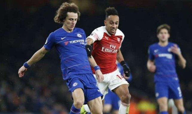 David Luiz (l.) und Pierre-Emerick Aubameyang werden aufeinander treffen