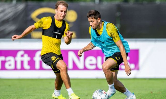 Mario Götze (l.) und Raphaël Guerreiro kamen beide 2016 zum BVB