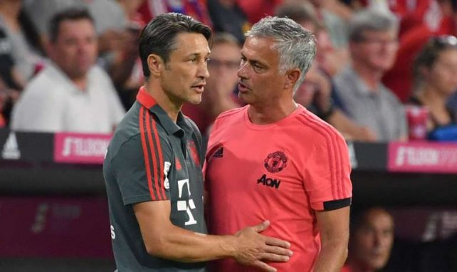 Niko Kovac (l.) mit José Mourinho
