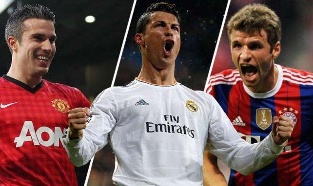 Real Madrid, Manchester United und der FC Bayern bilden das Treppchen