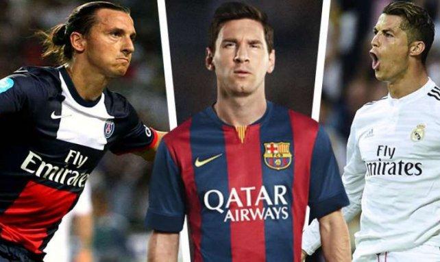 Zusammen verdienen Ibrahimovic, Messi und Ronaldo 140 Millionen Euro